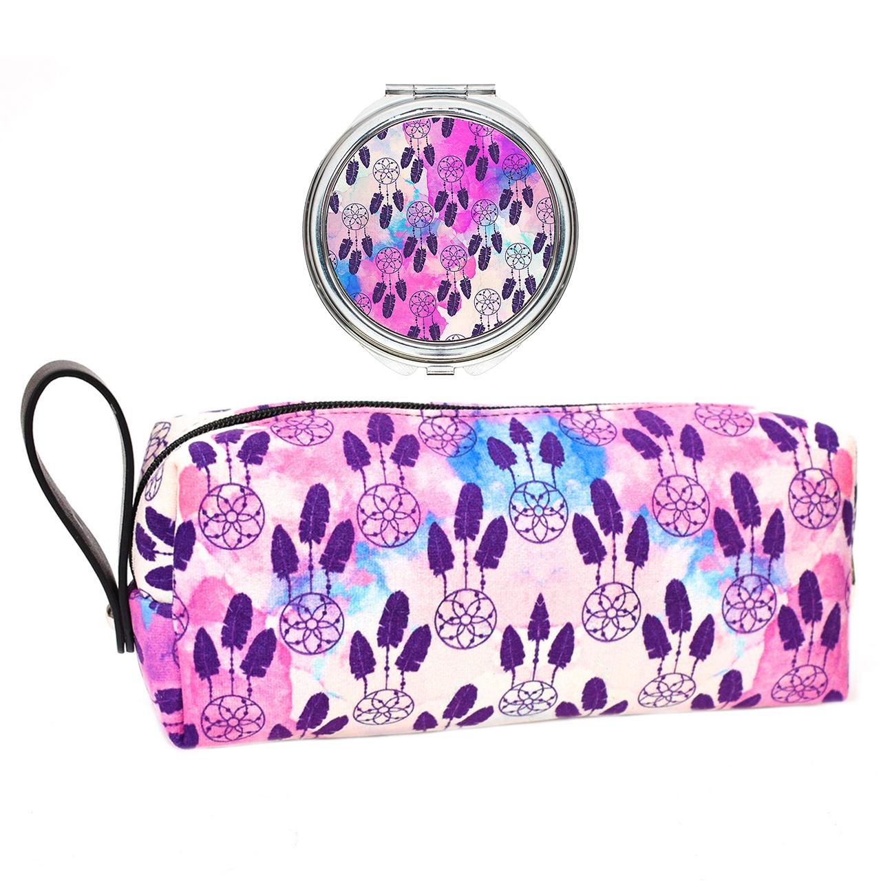 قیمت پک کیف و آینه آرایشی لومانا کد 001
