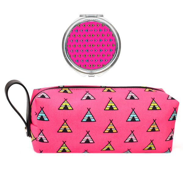 پک کیف و آینه آرایشی لومانا کد 002