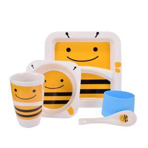 ظرف غذای 5 تکه کودک طرح زنبور