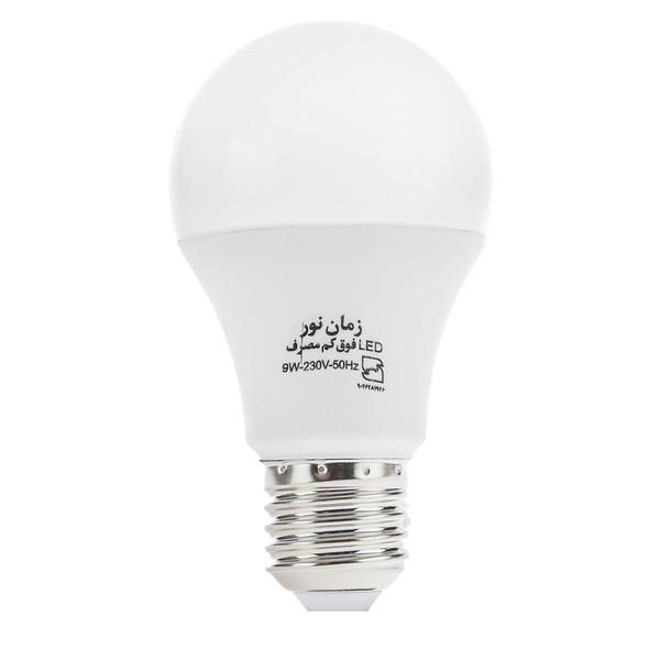 لامپ ال ای دی 9 وات زمان نور مدل Ultra-Low پایه E27