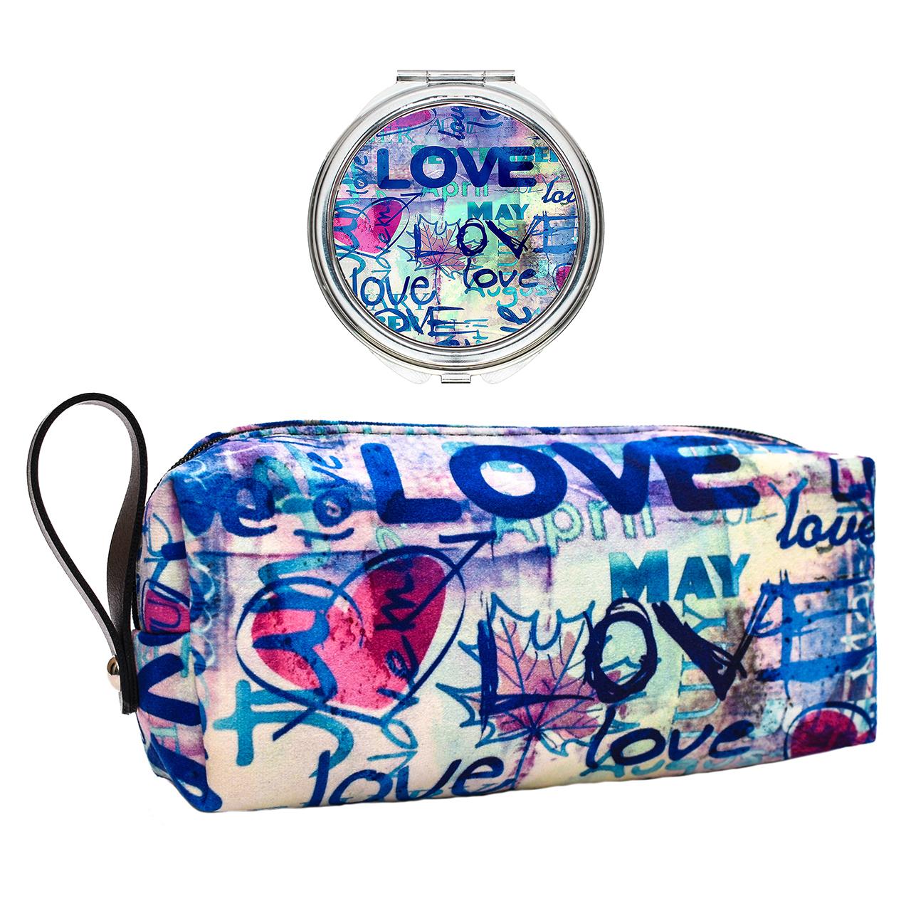 پک کیف و آینه آرایشی لومانا کد 010