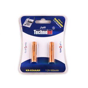 باتری نیم قلمی قابل شارژ تکنوتل مدل 65 بسته 2 عددی