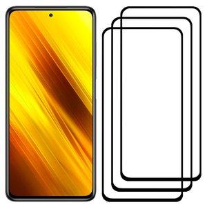 محافظ صفحه نمایش مدل FCG مناسب برای گوشی موبایل شیائومی Poco X3 NFC بسته سه عددی