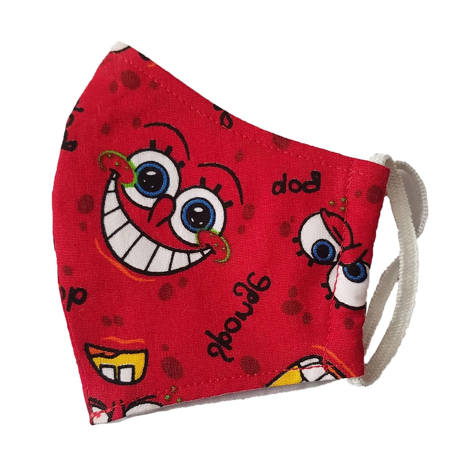 ماسک تزیینی بچگانه طرح باب اسفنجی کد G2