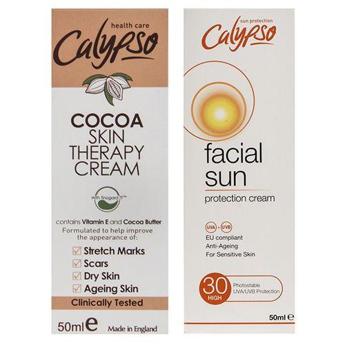 کرم ضد آفتاب کالیپسو با SPF30 حجم 50 میلیلیتر به همراه کرم دست و صورت مدل Cocoa