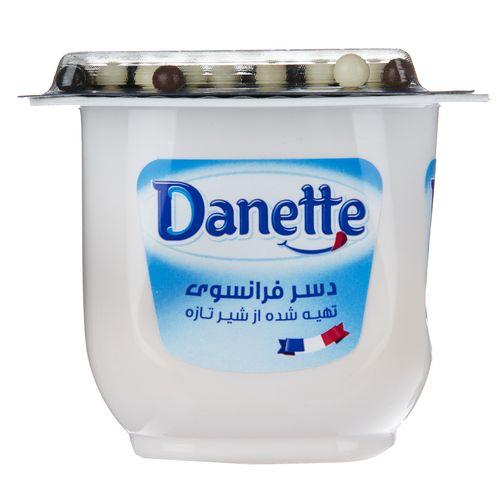 دسر وانیل دنت مقدار 100 گرم به همراه دراژه شکلاتی