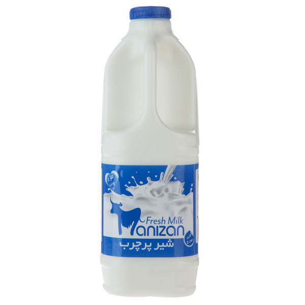 شیر پرچرب مانیزان مقدار 2 لیتر