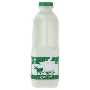 شیر کم چرب مانیزان مقدار 0.95 لیتر