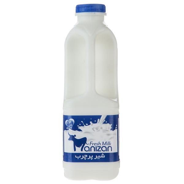شیر پرچرب مانیزان مقدار 0.95 لیتر