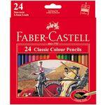 مداد رنگی 24 رنگ فابر-کاستل مدل Classic thumb
