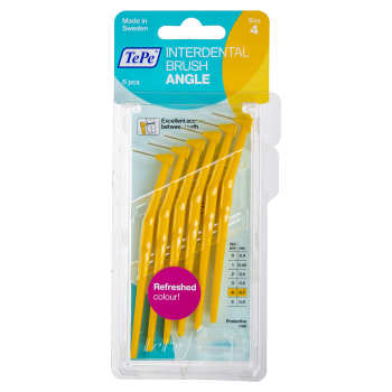 مسواک بین دندانی انگل سایز 4 بسته 6 عددی
