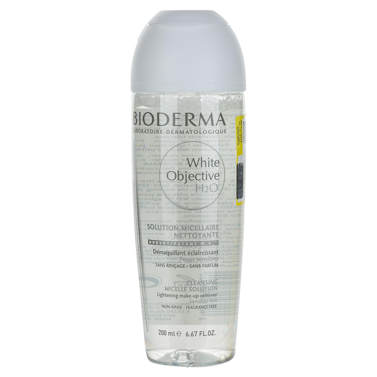 قیمت محلول پاک کننده ضد لک H2O بایودرما مدل White Objective حجم 200 میلیلیتر