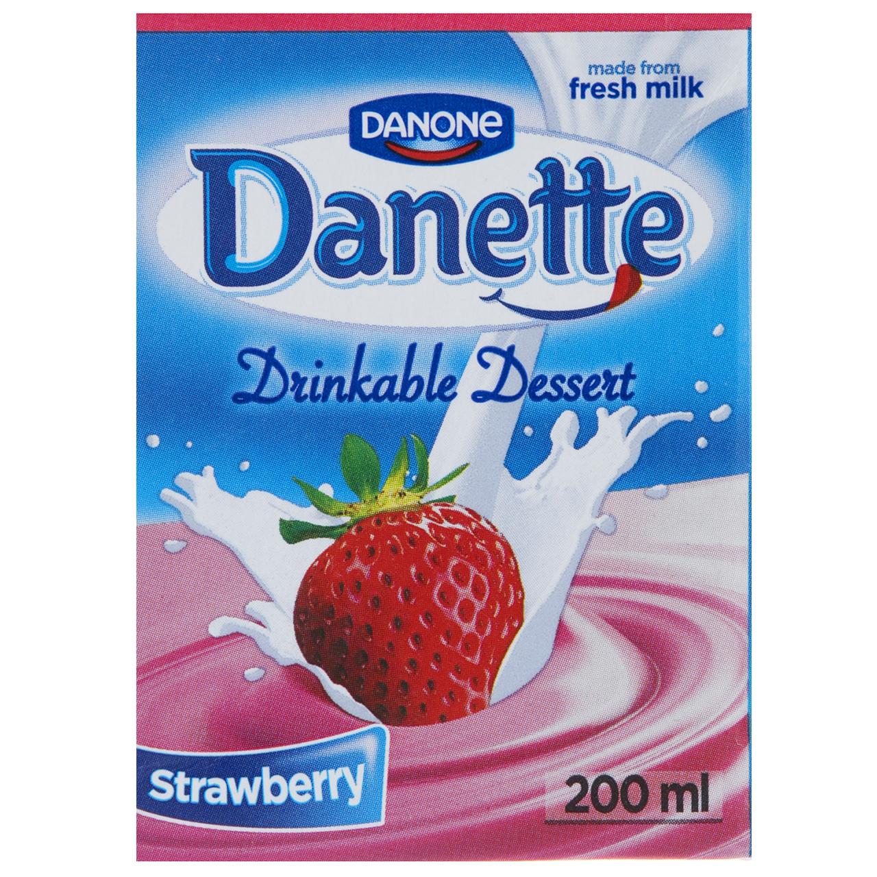 دسر نوشیدنی توت فرنگی دنت حجم 0.2 لیتر