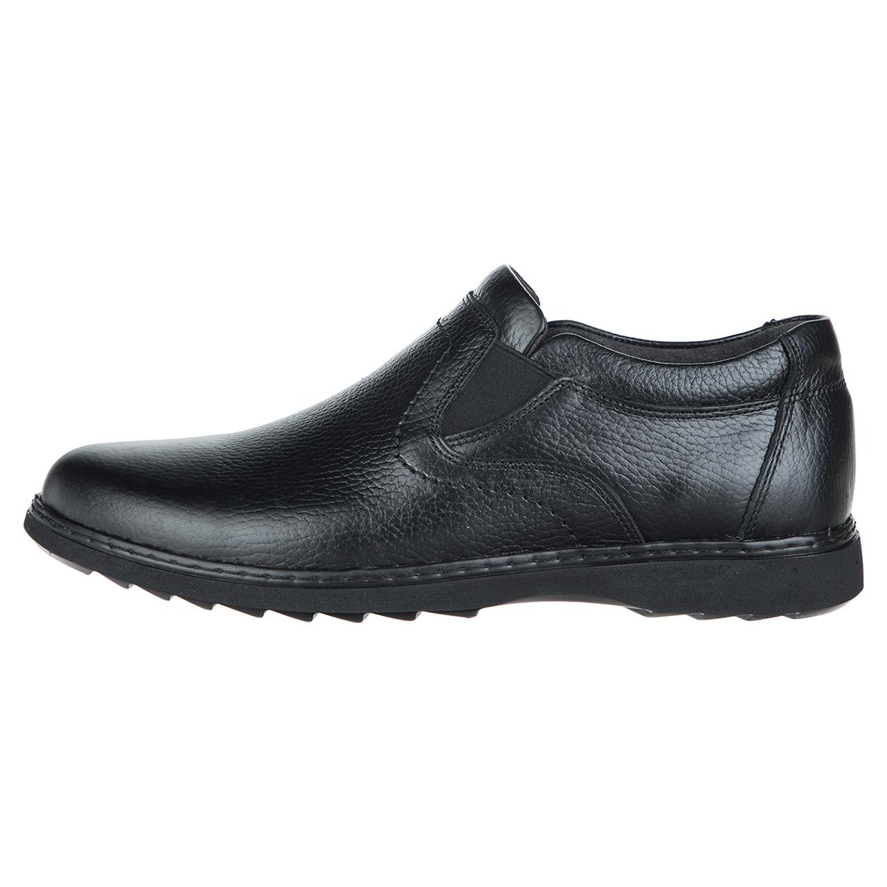 کفش مردانه چرم طبیعی مدل بی بند کد 14