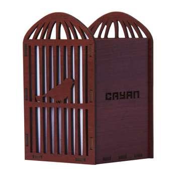 جا مدادی چوبی سایان هوم مدل قفس
