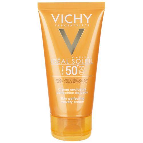 کرم ضد آفتاب بی رنگ ویشی سری Ideal Soleil مدل Velvety حجم 50 میلی لیتر