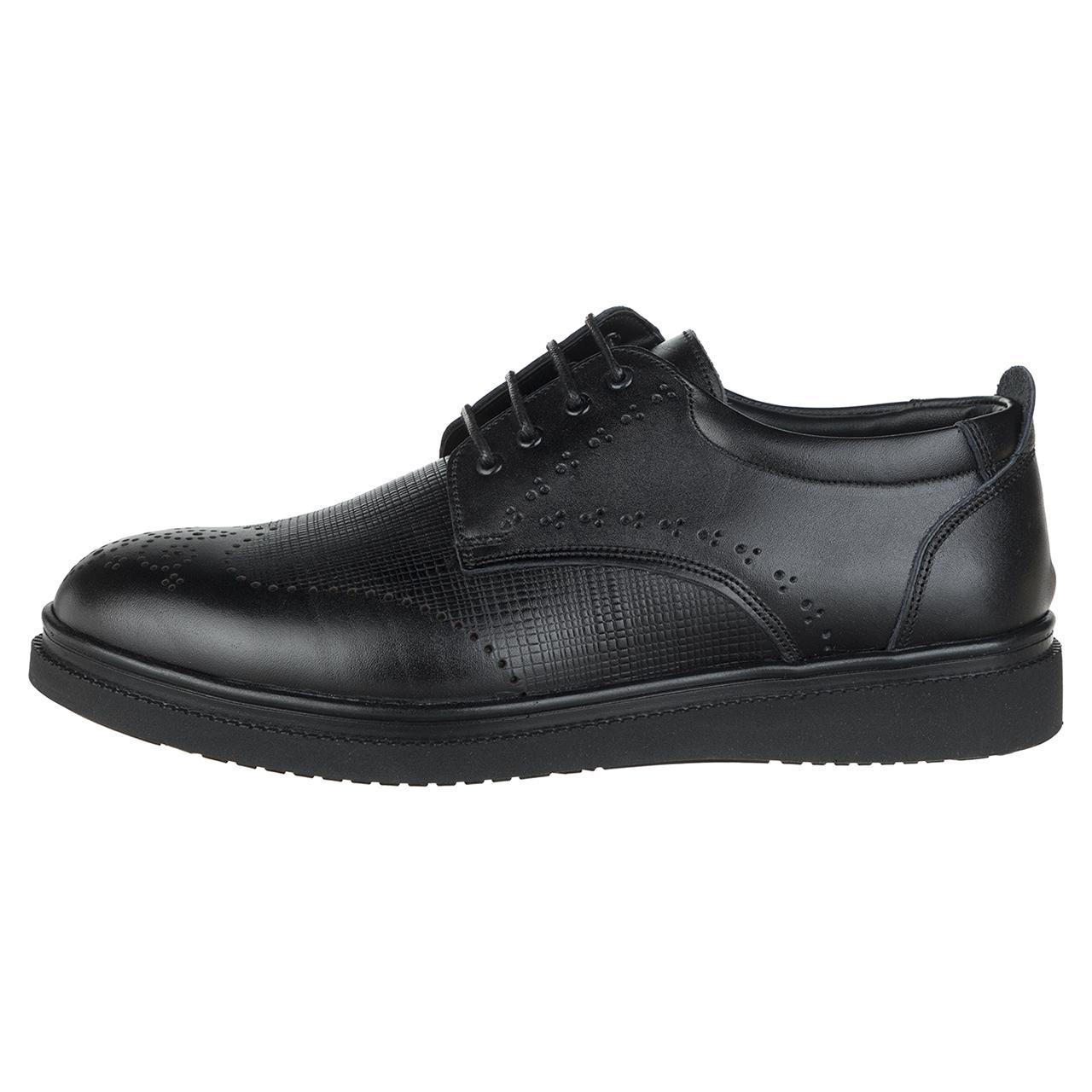 کفش مردانه چرم طبیعی مدل شنل کد78