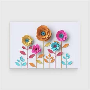 تابلو شاسی دکوگراف مدل گلهای کاغذی کد 448