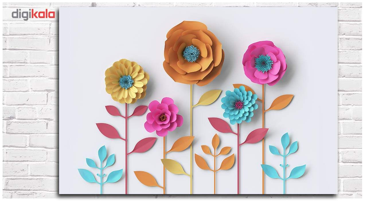 تابلو شاسی دکوگراف مدل گلهای کاغذی کد 448 main 1 1