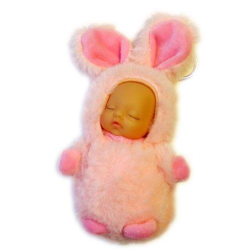 آویز - جاسوییچی - عروسک مدل نوزاد لباس خرگوشی