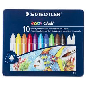 مداد شمعی 10 رنگ استدلر مدل Noris Club