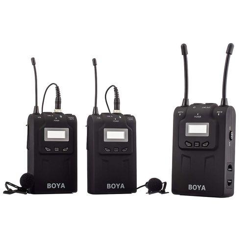 میکروفون بی سیم بویا مدل BY-WM8 Dual Channel UHF
