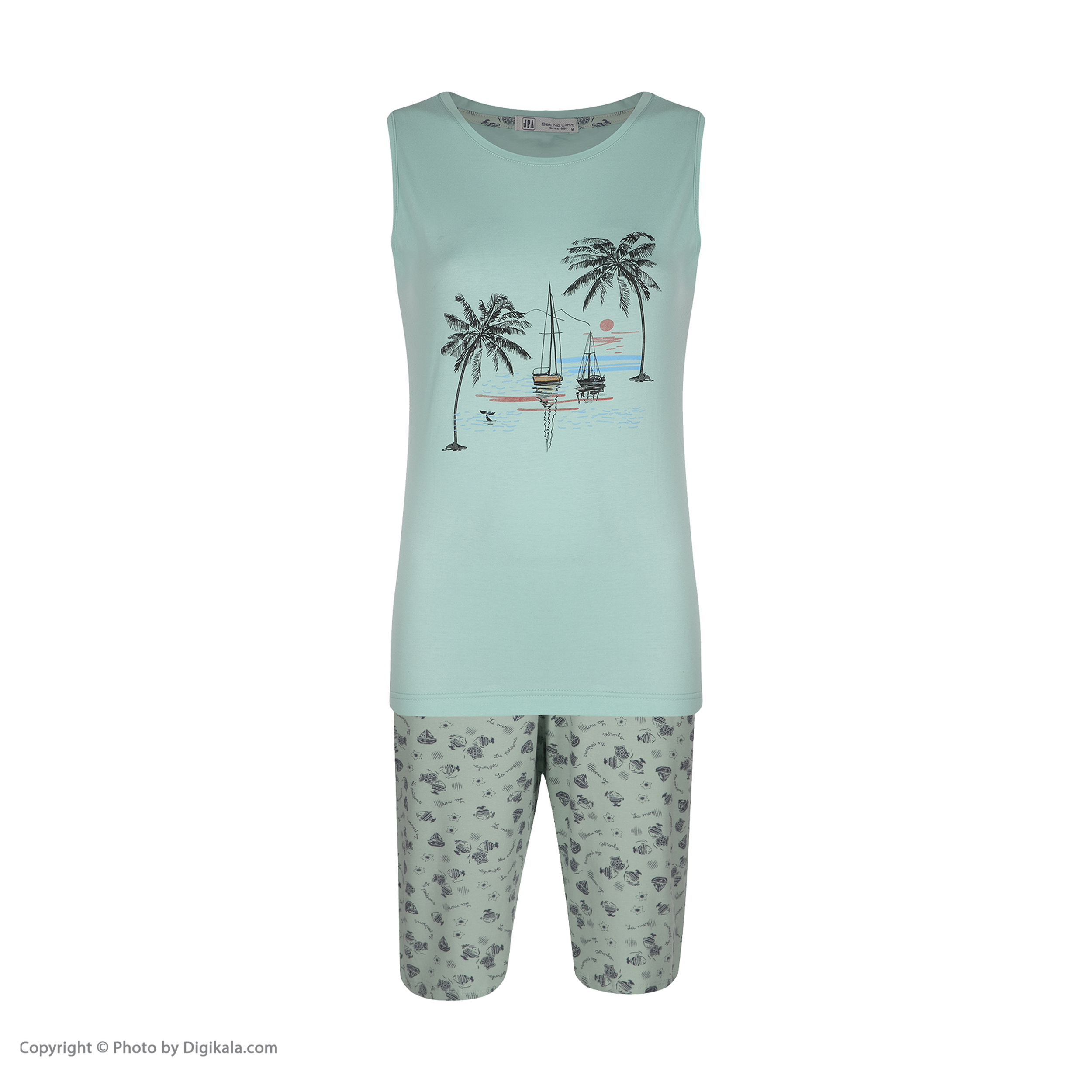 خرید                                      ست تی شرت و شلوارک راحتی زنانه جامه پوش آرا مدل 4422019024-43