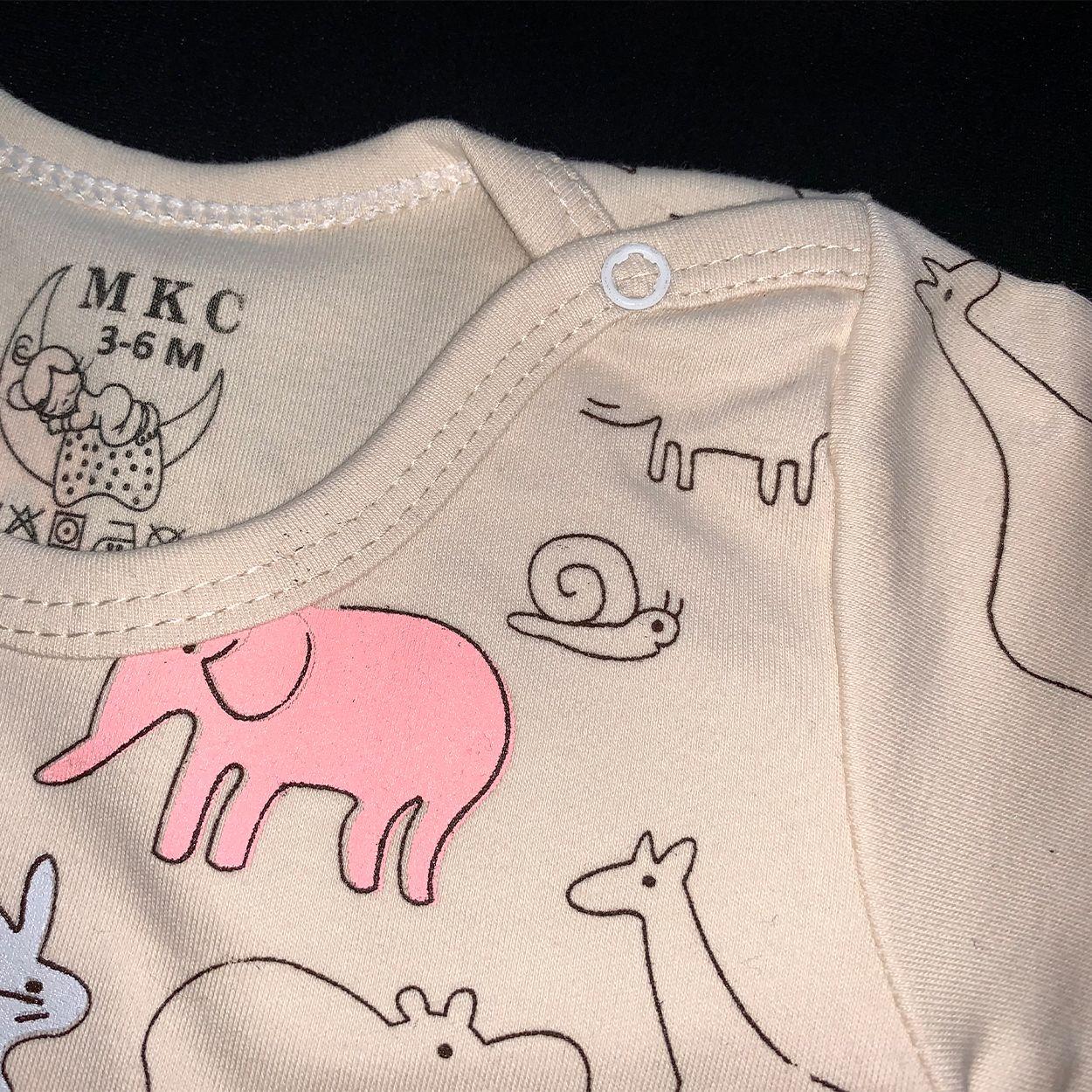 ست تی شرت و شلوار نوزادی طرح حیوانات کد FF-083  -  - 5