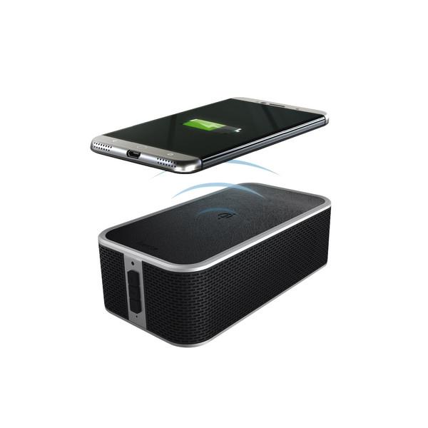 شارژر همراه بی سیم و اسپیکر بلوتوثی (QI) هاما مدل POWER BRICK 00173160 ظرفیت 4400 میلی آمپر ساعت