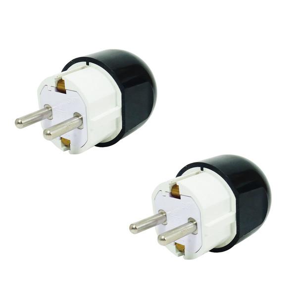 دوشاخه برق تیراژه مدل ارت دار کد S41 بسته دو عددی