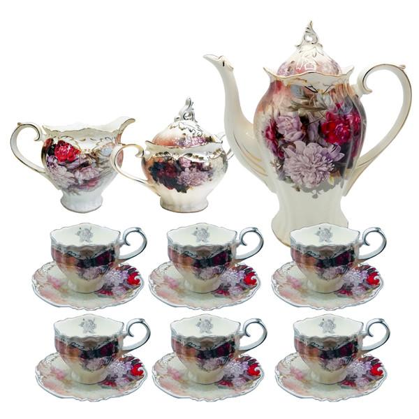 سرویس چای خوری 17 پارچه گلدکیش طرح ورونا VERONA مدل GK398041
