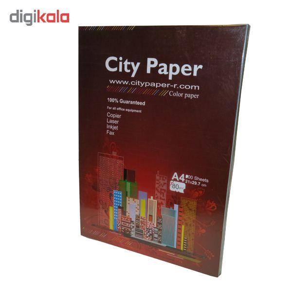 کاغذ رنگی A4 سیتی پیپر 13 رنگ  کد 1013بسته 104 برگی سایز 104 برگ main 1 2