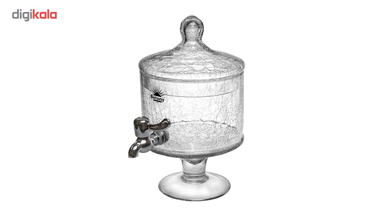 فروش کلمن شیشه ای مدل 7002 طرح الماس ظرفیت 4 لیتر