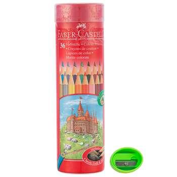 مداد رنگی 36 رنگ فابر-کاستل مدل قلعه به همراه تراش