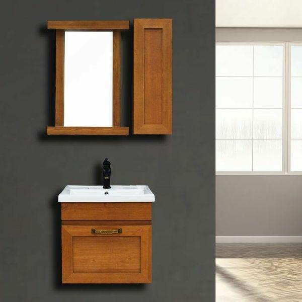 ست کابینت و روشویی مدل بردیا به همراه آینه و باکس