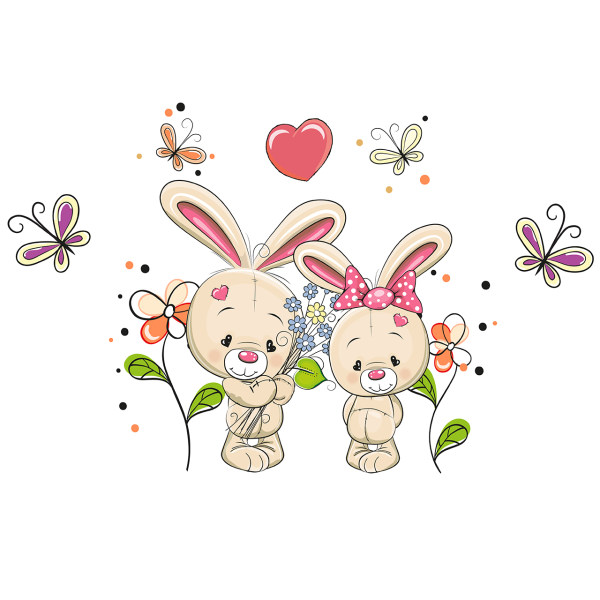 استیکر دیواری سالسو طرح دنیای خرگوشی