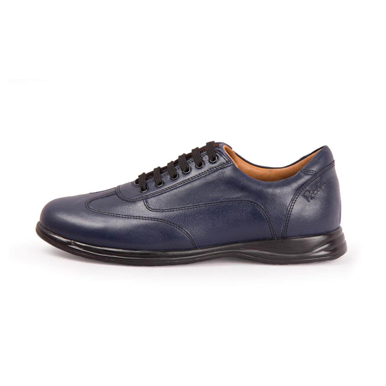 کفش مردانه چرم طبیعی پاندورا مدل m1050 سرمه ای