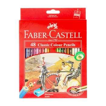 مداد رنگی 48 رنگ فابر کاستل مدل کلاسیک