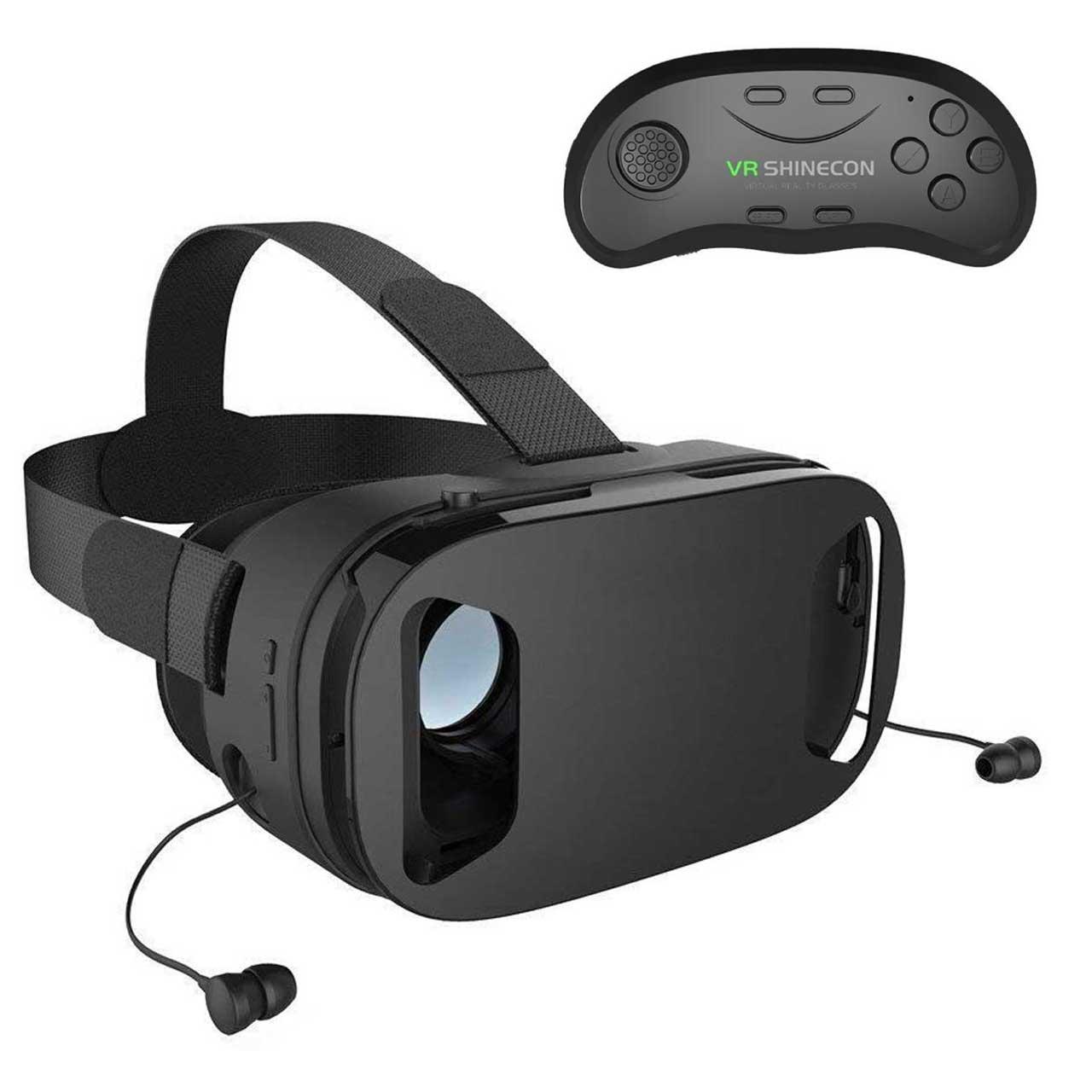 هدست واقعیت مجازی پرو مدل VA2T به همراه دسته بازی مدل B01