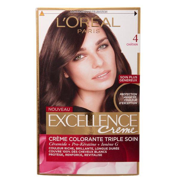 کیت رنگ مو لورآل شماره 4 Excellence