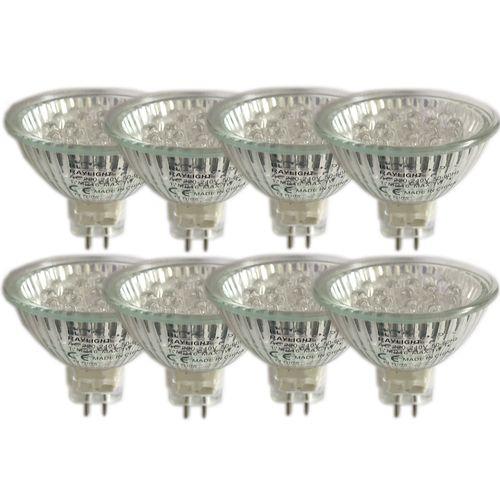لامپ هالوژن ری لایت مدل 20led بسته 8 عددی
