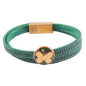 دستبند ورق طلا گالری الون طرح پروانه کد 198243