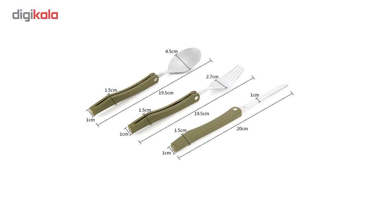 ست قاشق، چنگال و چاقوی کوهنوردی مدل camm main 1 3