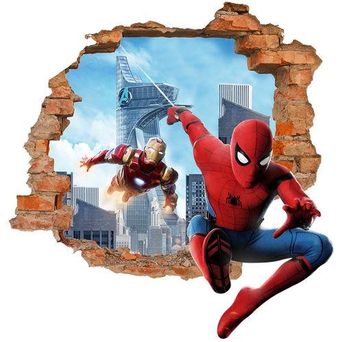 استیکر دیواری سالسو طرح مرد عنکبوتی
