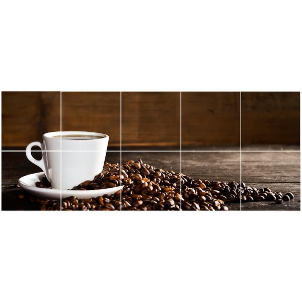 استیکر کاشی سالسو  طرح کافه بسته 10 عددی