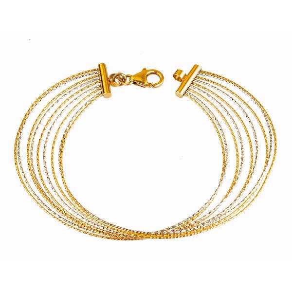 دستبند طلا 18 عیار طلا باران مدل 004 |