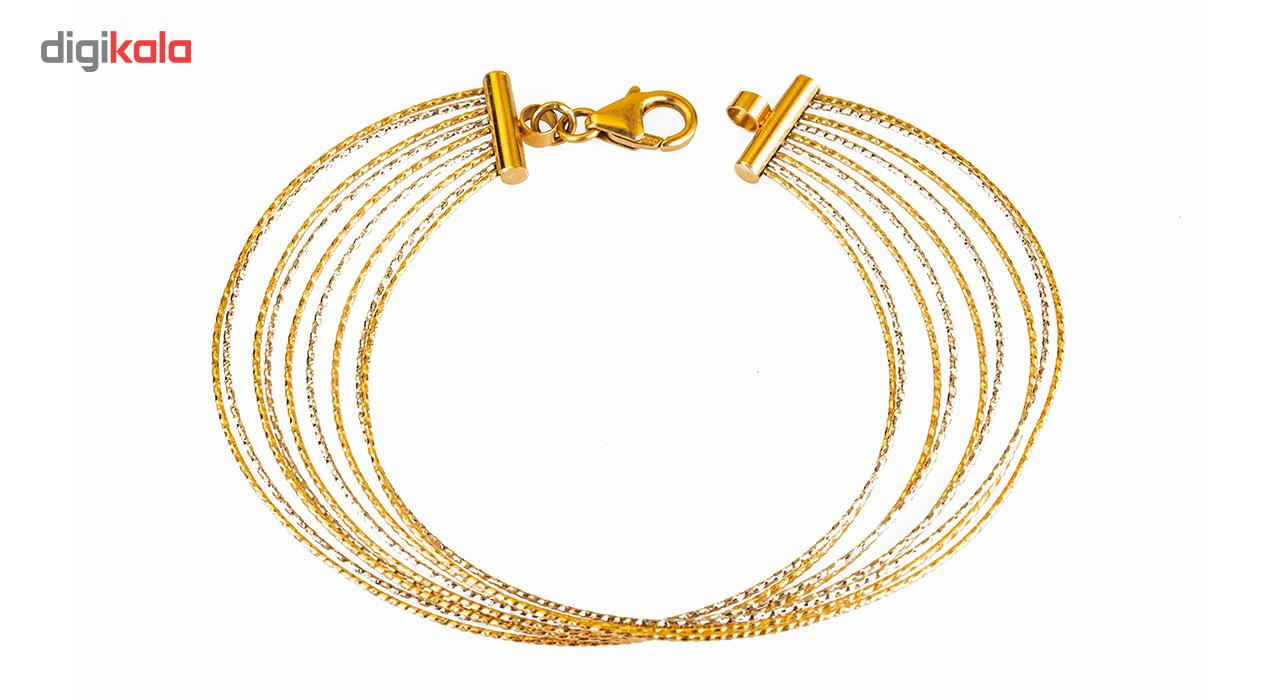 دستبند طلا 18 عیار طلا باران مدل 004
