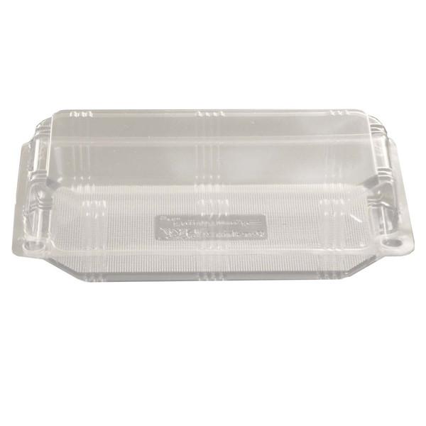 ظرف غذا یکبار مصرف طلقی طرح لانچ باکس کوتاه بسته 300 عددی