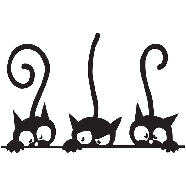 استیکر دیواری دکوگراف طرح گربه