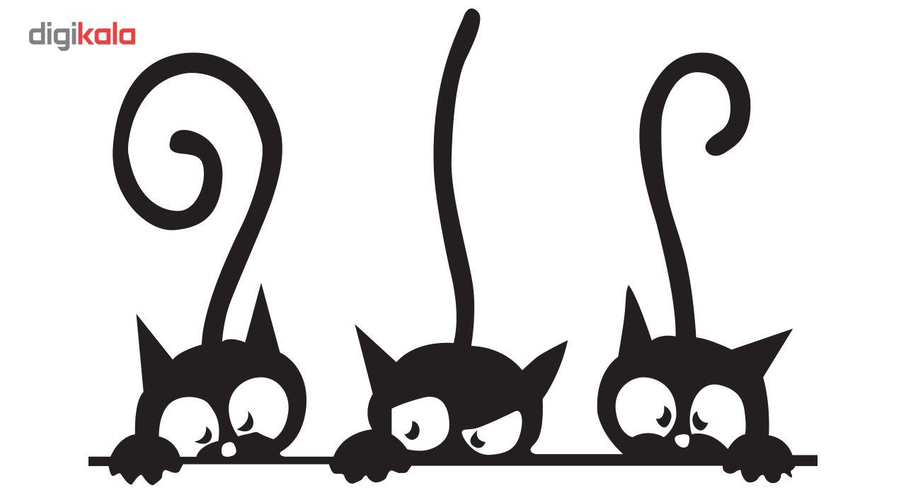 استیکر دیواری دکوگراف طرح گربه main 1 1